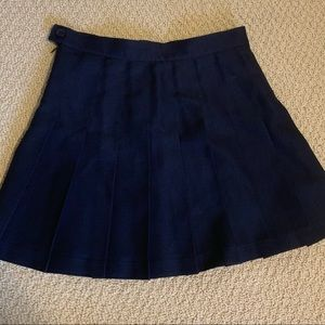 "Pleated navy blue ""cheer"" style skirt"